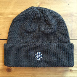 INDEPENDENT CROSS RIBBED LONG SHOREMAN BEANIE - HEATHER OLIVE