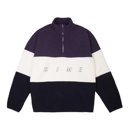 DIME 3 TONE FLEECE PULLOVER Purple