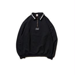 Hellrazor Authentic Neck Lining Half Zip Sweater - Black