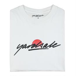 YARDSALE Sun-script T-shirt White