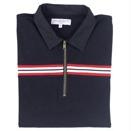 YARDSALE BLACK RIBBED POLO