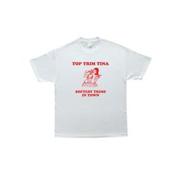 COME SUNDOWN TOP TRIM TINA T-SHIRT WHITE