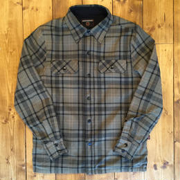 INDEPENDENT SWITCH REVERSIBLE OVERSHIRT - GREEN PLAID/BLACK