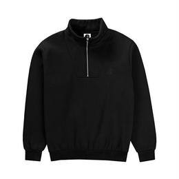 POLAR SKATE CO. ZIP NECK SWEATSHIRT (BLACK)