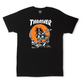Thrasher Magazine Outlaw tee in black by Pushead