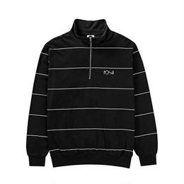 POLAR SKATE CO. STRIPED ZIP NECK (BLACK)