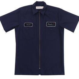 Peels NYC Peels Full-Zip Work Shirt Navy