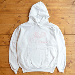 CASTLE BOLTS Bunny Clock Hoodie White