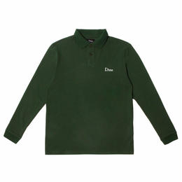 DIME LONG SLEEVE POLO SHIRT GREEN