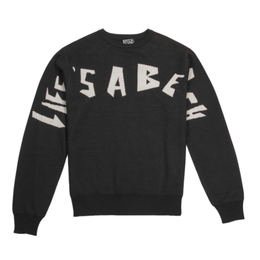 LIFE'S A BEACH LAB Strip Logo Crew Black