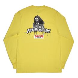 FUCKING AWESOME x THRASHER Trash Me Long sleeve T-shirts Yellow