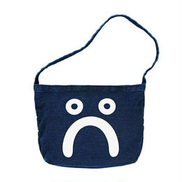POLAR SKATE CO HAPPY SAD DENIM TOTE BAG DARK BLUE ACID