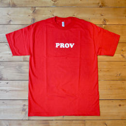 PROV 90'S LOGO T-SHIRT RED