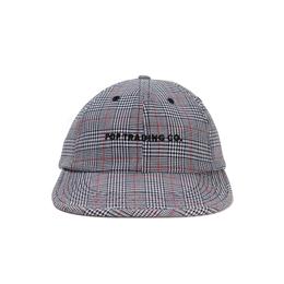 POP FLEXFOAM 6 PANEL HAT GREY/RED PLAID
