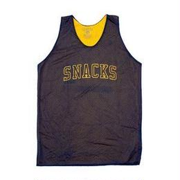QUARTER SNACKS Reversible Pick-Up Jersey — Navy/Yellow