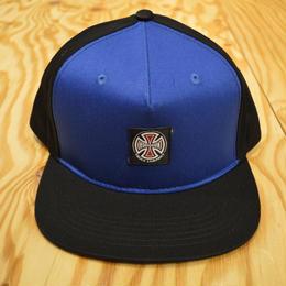 INDEPENDENT T/C LABEL SNAPBACK HAT - BLUE/BLACK
