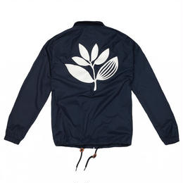 MAGENTA NYLON COACH JACKET NAVY