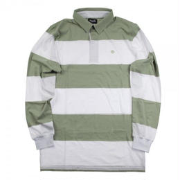 MAGENTA LONSLEEVE STRIPPED POLO SHIRT WHITE/GREEN