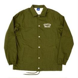 QUARTER SNACKS Canvas Coach Jacket — Olive