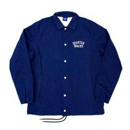 QUARTER SNACKS Canvas Coach Jacket — Navy