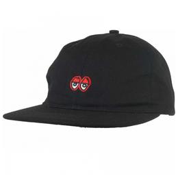 Krooked Eyes Embroidered 6-Panel Strapback Hat - Black