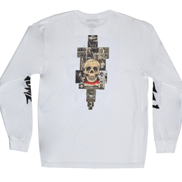 FUCKING AWESOME KB Collage L/S White