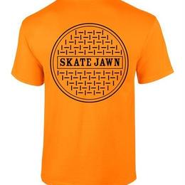 Skate Jawn sewer tee orange