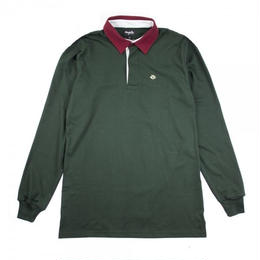 MAGENTA LONGLEEVE POLO SHIRT GREEN