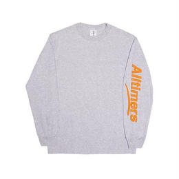 ALLTIMERS ESTATE PUFFY LONGSLEEVE TEE HEATHER GREY