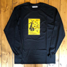 SKATE MUZIK×PROV Long sleeve tee Black