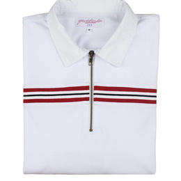 YARDSALE WHITE RIBBED POLO