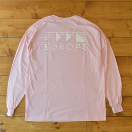 EUROPE CO. Classic logo lightpink longsleeve - Light pink