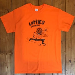 LOTTIES CIVILIZED MAN SHORT SLEEVE T-SHIRT IN ORANGE