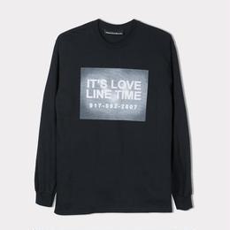 CALL ME 917 LOVE LINE LONG SLEEVE TEE - BLACK