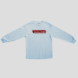 "PASS~PORT ""ICY HOT"" L/S TEE POWDER BLUE"
