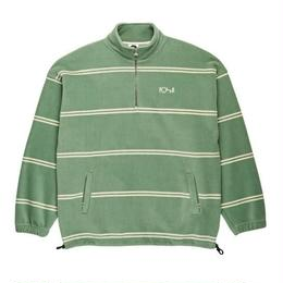 POLAR SKATE CO. STRIPED FLEECE PULLOVER Dusty Mint / Ivory