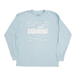 HUMBLE Solidarity longsleeve tee skylake blue/white