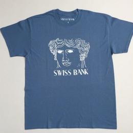 "SWISS BANK""GODDESS TEE""-INDIGO/WHITE"