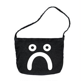 POLAR SKATE CO HAPPY SAD DENIM TOTE BAG WASH BLACK