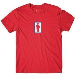 GIRL SKATEBOARDS CLASSIC OG TEE RED