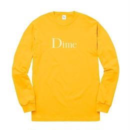 DIME CLASSIC LOGO L/S T-SHIRT Gold