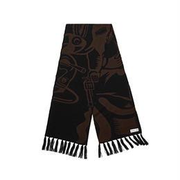 POLAR SKATE CO. COWBOY SCARF Brown / Black
