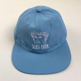 "SWISS BANK""GODDESS 6PANEL NYLON CAP""-L BLUE/WHITE"