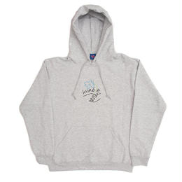 HUMBLE Flower Logo Embriodered hoody ash grey/color
