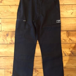 EUROPE CO. Double knee cargopant Black