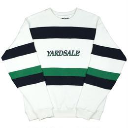 YARDSALE Valentine Sweat White/Navy/Green