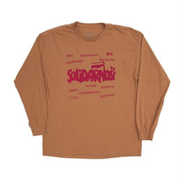 HUMBLE Solidarity longsleeve tee almond butter/rasberry