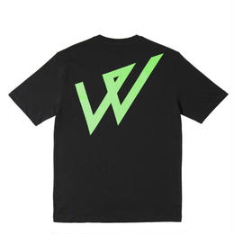 WAYWARD LONDON 'LOWGO FLURO' Short sleeve T-Shirt. Black
