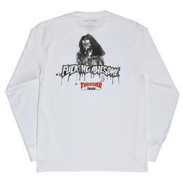 FUCKING AWESOME x THRASHER Trash Me Long sleeve T-shirts White