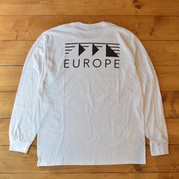 EUROPE CO. Classic Logo Longsleeve - White